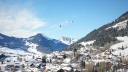 Chateau D'Oex y el Festival de globos aerostáticos. Un pueblo de cuento. (Switzerland)